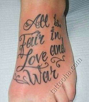 All fair in Love and War